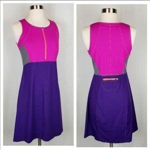 Title nine color block half zipper dress